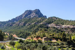 Les roches d'Els Ports Natural Park dedans photos stock