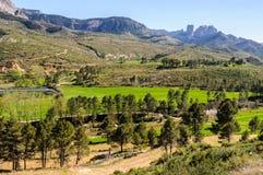 Les roches d'Els Ports Natural Park dedans images stock