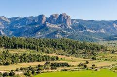 Les roches d'Els Ports Natural Park dedans photo stock