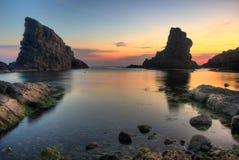 Les roches de bateaux Photo stock