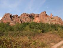 Les roches de Belogradchik et le x28 ; Bulgaria& x29 ; Photographie stock libre de droits