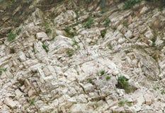 Plan rapproché des roches de marbre le long de la rivière de Narmada, Jabalpur, Inde photographie stock libre de droits