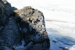 Les roches et le soleil photographie stock libre de droits