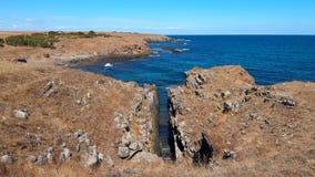 Les roches près d'Ahtopol Image libre de droits