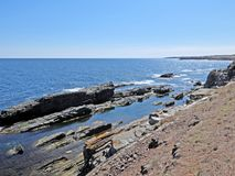 Les roches près d'Ahtopol Image stock