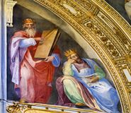 Les Rois antiques Fresco Basilica Santa Maria Maggiore Rome Italy images libres de droits