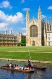 Les Rois College à l'Université de Cambridge, Angleterre Photographie stock
