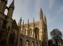 Les Rois College Chapel, Cambridge, Royaume-Uni Images stock