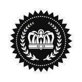 Les Rois Crown entre Laurel Branches sur le joint royal illustration stock