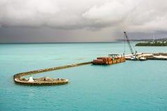 Les Rois foncés Wharf de cieux Image stock