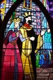 Les Rois Hubert et Stefan et reine images stock