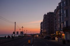 Les Rois Road Brighton East Sussex South East Angleterre R-U de bord de la mer photo libre de droits