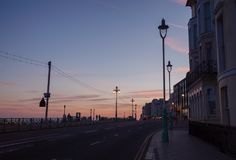 Les Rois Road Brighton East Sussex South East Angleterre R-U de bord de la mer photographie stock libre de droits