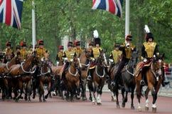 Les Rois Troop Royal Horse Artillery Image stock