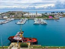 Les Rois Wharf Bermudes Photo stock
