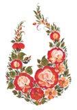 Les roses de fleurs dans le style russe Photos stock