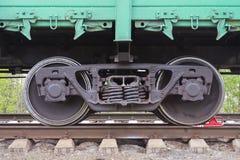 Les roues d'un autorail Images stock