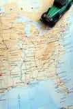 Voyage par la route par le concept de l'Amérique du Nord Images libres de droits