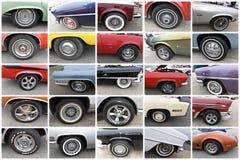 Les roues regardent la rétro exposition de New York de vingt voitures de fives Images libres de droits