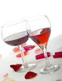 Les rouges romantiques ont pêché Photographie stock