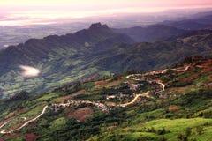 Les routes sur la montagne Photographie stock libre de droits