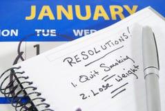 Les résolutions d'an neuf Images libres de droits