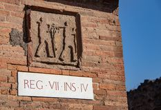 Les rues antiques de Pompeii image libre de droits