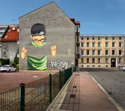 Les rues de la vieille ville de Dessau l'allemagne images stock