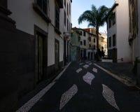 Les rues de la vieille ville de Funchal madeira portugal photo stock