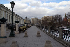 Les rues de Moscou Photographie stock libre de droits
