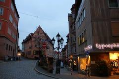 Les rues de Nuremberg Image stock