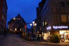 Les rues de Nuremberg Photographie stock