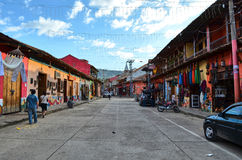 Les rues de Raquira Photo stock