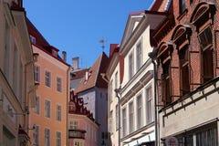 Les rues de Tallinn Image libre de droits