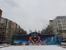 Les rues de Toronto pendant l'hiver photo libre de droits
