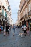 Les rues merveilleuses de la belle ville de Tropea Images libres de droits