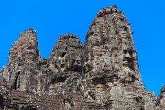 Les ruines antiques d'un temple historique de Khmer dans le compl de temple Image libre de droits