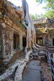 Les ruines antiques d'un temple historique de Khmer dans le compl de temple Image stock