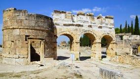 Les ruines antiques de Hierapolis Images libres de droits