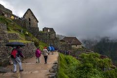 Les ruines antiques incroyables de Machu Picchu au Pérou Image stock