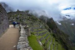Les ruines antiques incroyables de Machu Picchu au Pérou Photo libre de droits