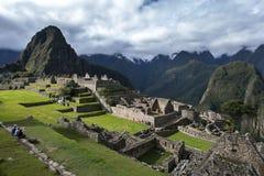 Les ruines antiques incroyables de Machu Picchu au Pérou Image libre de droits