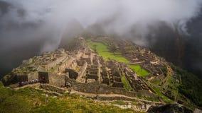 Les ruines célèbres d'Inca du picchu de machu au Pérou Photographie stock