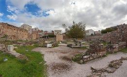 Les ruines d'Athènes Photo libre de droits