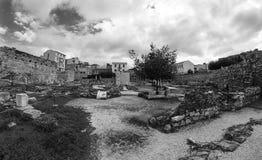 Les ruines d'Athènes Photos stock