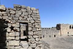 Les ruines d'Azraq se retranchent, la Jordanie central-orientale, 100 kilomètres à l'est d'Amman Photographie stock libre de droits