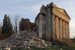 Les ruines d'un beau palais antique images libres de droits