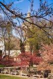 Les ruines d'un monastère dominicain antique dans le Central Park sur l'île de Margaret à Budapest, Hongrie photographie stock