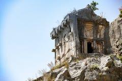 Les ruines d'un temple antique Photo stock