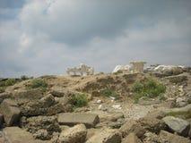 Les ruines d'un temple du grec ancien sur le territoire de la Turquie moderne Image stock